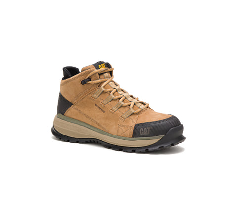 CAT Utilize Alloy CSA Waterproof Hiker Work Boot - Sand