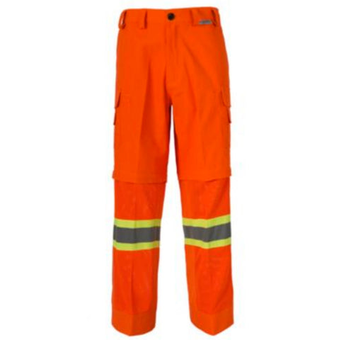 CoolWorks CW2 Hi-Vis Men's Ventilated Cargo Work Pants - Orange