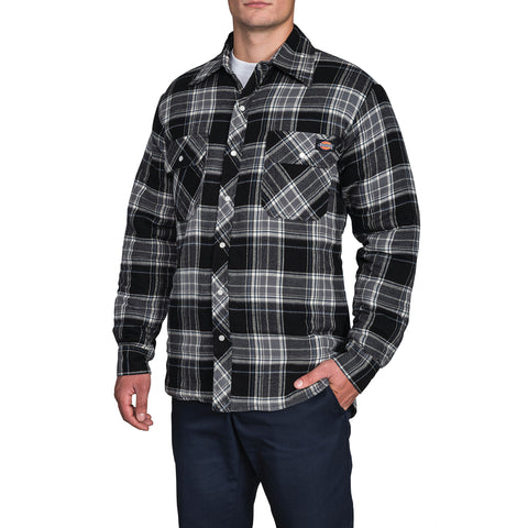 Quilted Snap Front Plaid Shirt