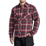 Quilted Snap Front Plaid Shirt D18005