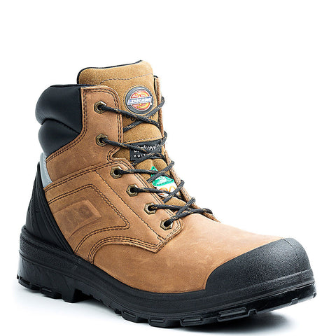 "Dickies Overtime Men's 6"" Steel Toe Work Boot - Brown"