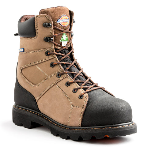"Dickies Beast Men's 8"" Steel Toe Work Boot - Brown"