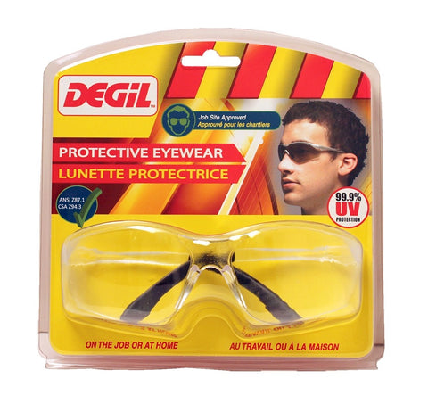 Degil JS401 Clear Lens Protective Work Glasses