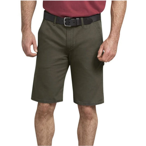 "Dickies 11"" Tough Max™ Men's Duck Carpenter Work Shorts DX802 - Green"