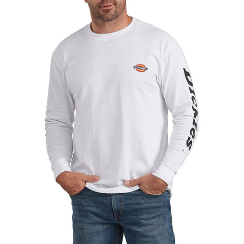 Dickies Heavyweight Long-Sleeve Graphic T-Shirt WL469 - White