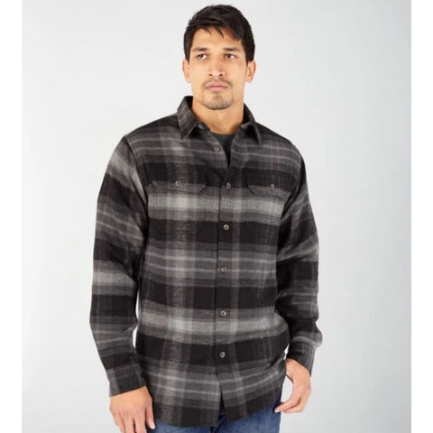 Dickies Heavyweight Long Sleeve Flannel Work Shirt WL652 - Grey