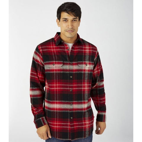 Dickies Heavyweight Long Sleeve Flannel Work Shirt WL652 - Red