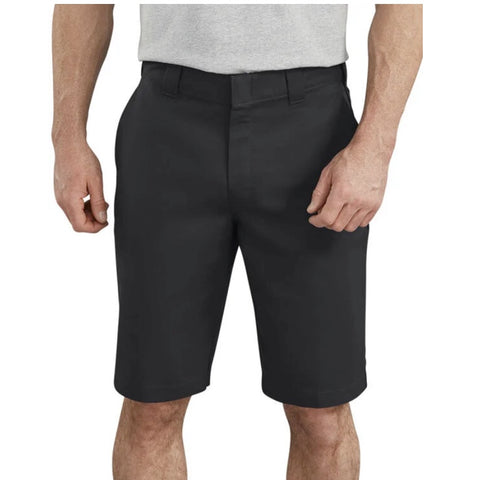 "Dickies Men's 11"" FLEX Temp-iQ™ Active Waist Flat Front Work Shorts WR860  - Navy"