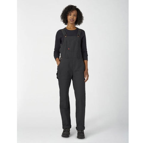 Dickies Women's Black Double Front Duck Work Overall - FB2500