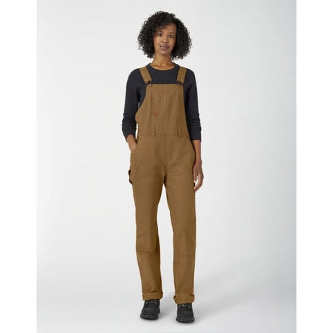 Dickies Women's Brown Double Front Duck Work Overall - FB2500