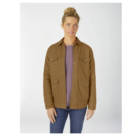 Dickies Women's Sherpa Lined Duck Chore Coat FJ176 - Duck