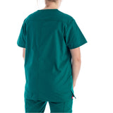 Dickies V-Neck Top in hunter green