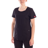 Dickies Xtreme Mock Women's Scrubs Top - black