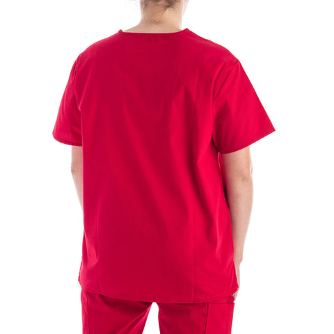 1a61b31ad36 Dickies Unisex V Neck Scrubs Top - Red – Work Authority