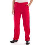 Dickies Pull On/Elastic Waist Women's Scrubs Pants - Petite in red