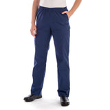 Dickies Pull On/Elastic Waist Women's Scrubs Pants - Petite - navy