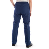 Dickies Pull On/Elastic Waist Women's Scrubs Pants - Petite in navy
