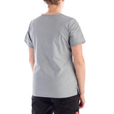 Dickies Women's Mock Wrap Scrubs Top- Missy Fit in grey