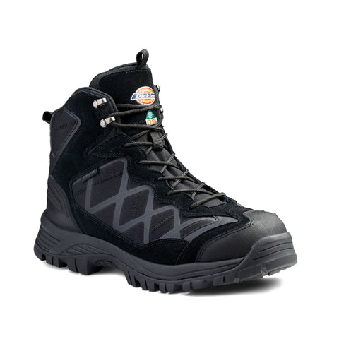 "Dickies FrontierHike Men's 6"" Steel Toe Waterproof Shoe - Black"