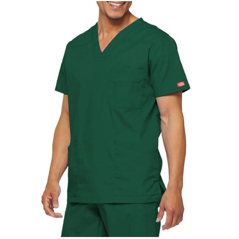 Dickies' Men's EDS Signature V-Neck Scrub Top - Green