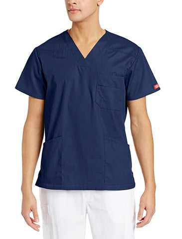Dickies' Men's EDS Signature V-Neck Scrub Top - Navy