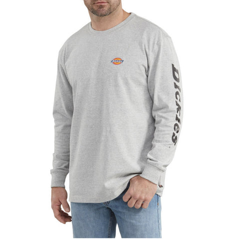 Dickies Heavyweight Long-Sleeve Graphic T-Shirt WL469 - Grey