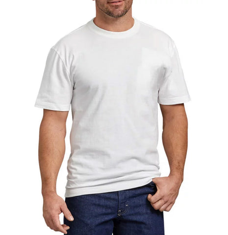 Dickies WS480 Men's Short Sleeve Heavyweight Crew Neck T-Shirt - WHITE