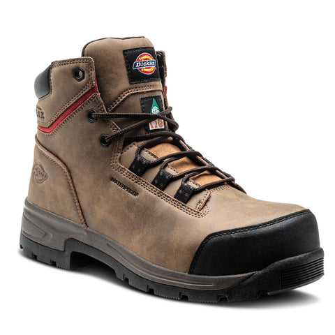 "Dickies Tractus Men's 6"" Waterproof Steel Toe Work Boot - Brown"
