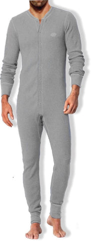 Dickies Waffle Men's Thermal Union Suit - Grey