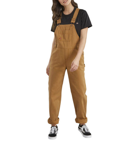 Dickies Women's Brown Duck Bib Work Overall
