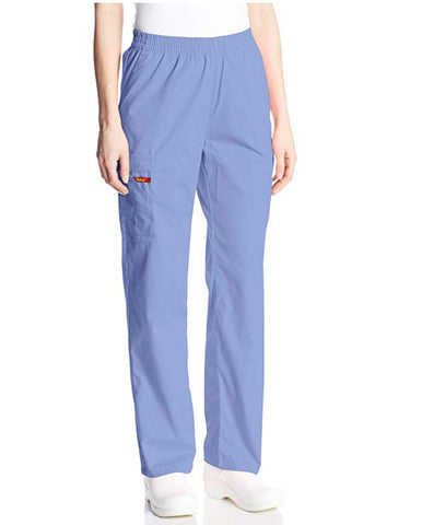 Dickies Pull On/Elastic Waist Women's Scrubs Pants  - Ciel Blue