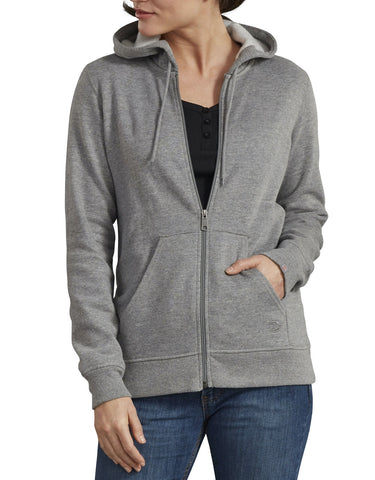 Dickies Women's Zip Front Hooded Jacket - Gray