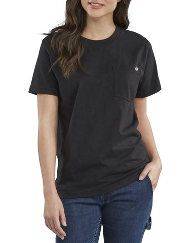 Dickies Women's Short Sleeve Heavyweight T-Shirt FS450 - Black