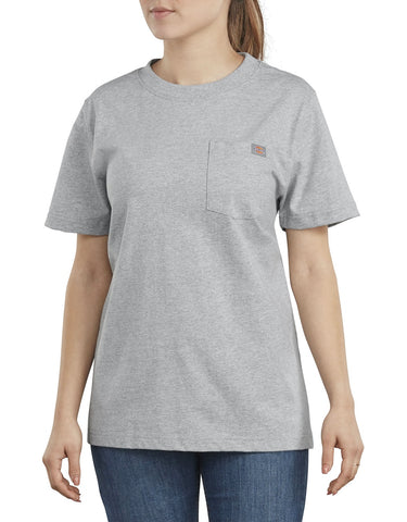 Dickies Women's Short Sleeve Heavyweight T-Shirt FS450 - Grey
