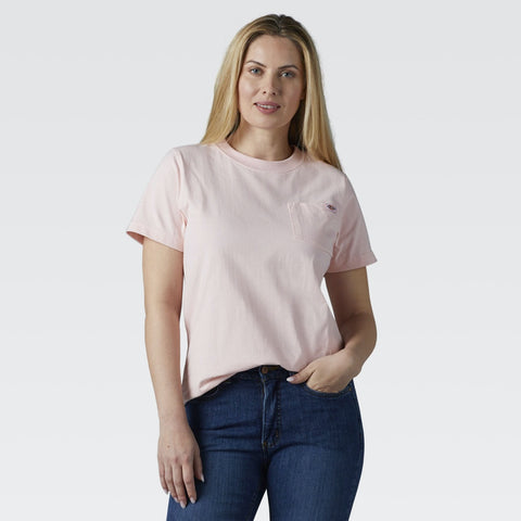 Dickies Women's Short Sleeve Heavyweight T-Shirt FS450 - Pink