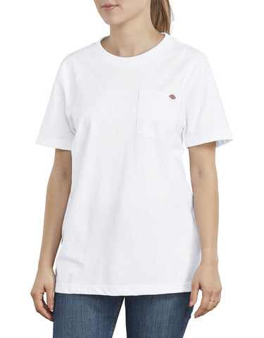 Dickies Women's Short Sleeve Heavyweight T-Shirt FS450 - White