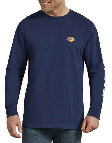 Dickies Heavyweight Long-Sleeve Graphic T-Shirt - Blue