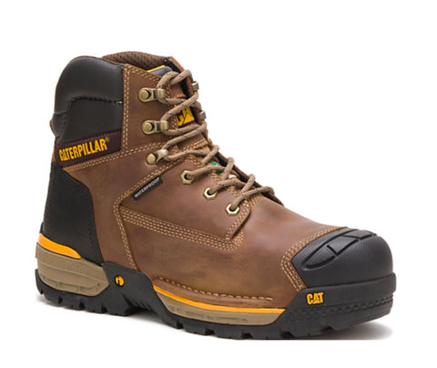 "CAT Excavator LT Men's 6"" Leather Composite Toe Waterproof Safety Boot - Brown"