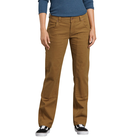 1fc927649e2 Dickies Women's Stretch Double Knee Front Carpenter Work Pant - brown