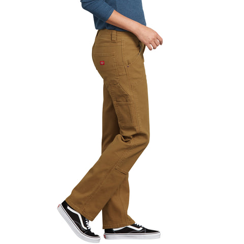 730d30535a258 ... Dickies Women s Stretch Double Front Cargo Work Pant - brown ...
