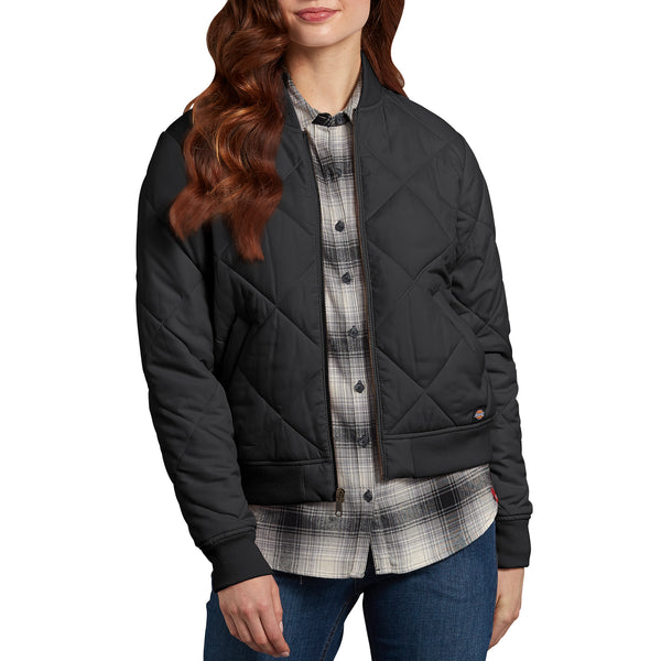 171aa8b3e Dickies' Quilted Bomber Women's Work Jacket - black