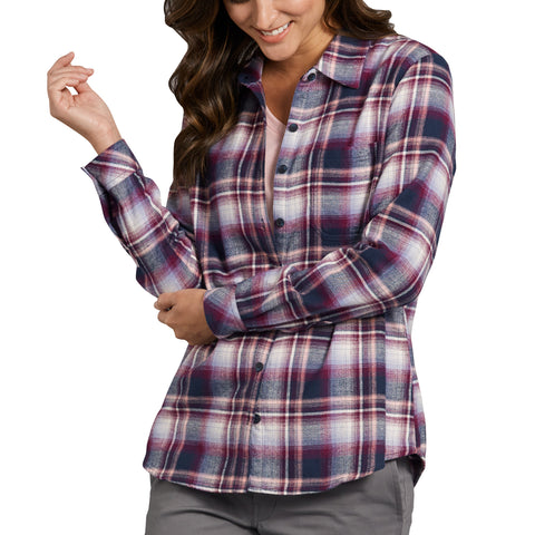 Women's Long Sleeve Plaid Flannel