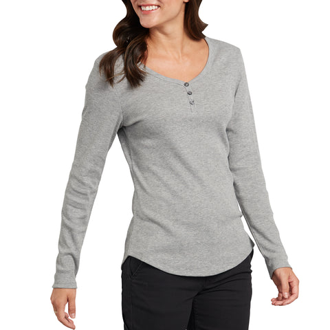 Women's Long Sleeve Button Henley Shirt