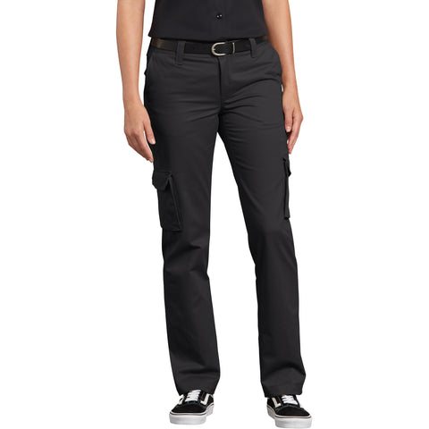 Dickies Women's Stretch Cargo Work Pant - black