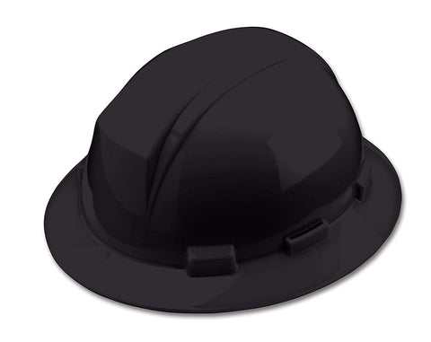 Full Brim Hard Hat With Accessory Slots - Black