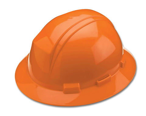 Full Brim Hard Hat With Accessory Slots - Orange