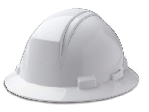 Full Brim Hard Hat With Accessory Slots - White