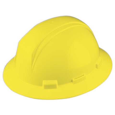Full Brim Hard Hat With Accessory Slots - Yellow