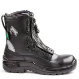 "Haix Airpower R2 8"" Men's Steel Toe Zip-Up Work Safety Boots - black"