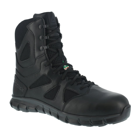 "Reebok Men's 8"" Black Sublite Cushion Tactical Composite Toe Safety Boot"